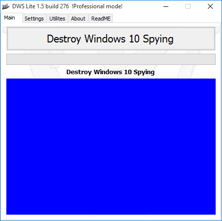 DestroyWindowsSpying gestartet